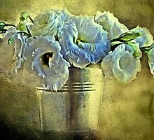 """Lisianthus in a Bucket ..."" by Rosehaven"