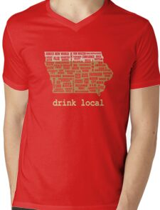 Drink Local - Iowa Beer Shirt Mens V-Neck T-Shirt