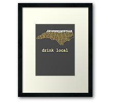 Drink Local - North Carolina Beer Shirt Framed Print