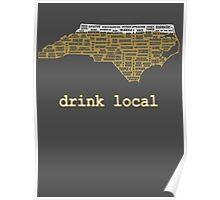 Drink Local - North Carolina Beer Shirt Poster