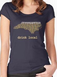 Drink Local - North Carolina Beer Shirt Women's Fitted Scoop T-Shirt