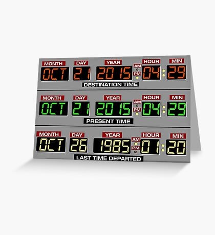 Back to the Future 2 Time Circuits 2015 Greeting Card