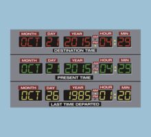 Back to the Future 2 Time Circuits 2015 One Piece - Short Sleeve