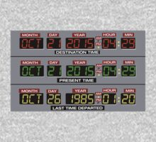 Back to the Future 2 Time Circuits 2015 One Piece - Long Sleeve