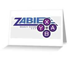 ZABIE Security Systems - USA Greeting Card