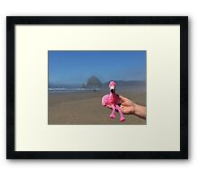 Hay Stack Rock Cannon Beach Oregon Framed Print