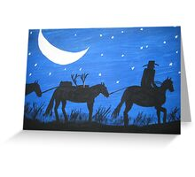 After The Hunt. Greeting Card
