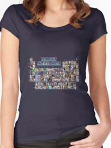 The periodic table of Final Fantasy Characters Women's Fitted Scoop T-Shirt