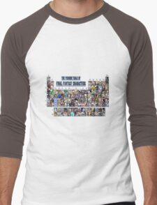 The periodic table of Final Fantasy Characters Men's Baseball ¾ T-Shirt