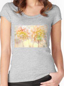 Gentle Dahlias  Women's Fitted Scoop T-Shirt