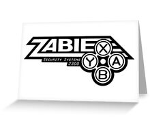 Zabie Security Systems - Black & White Greeting Card