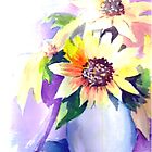 Vase of sunflowers by Saga Sabin