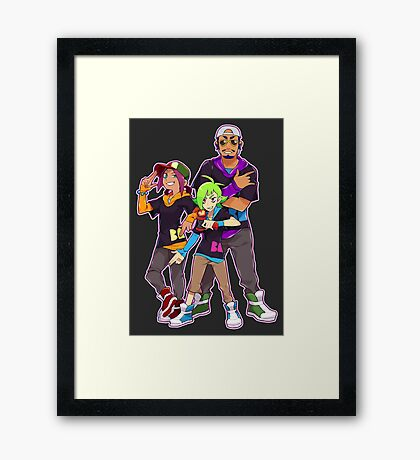 BA9ON Machine Guns Framed Print