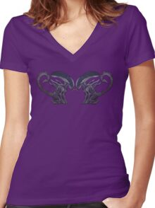 Xeno puppies Women's Fitted V-Neck T-Shirt