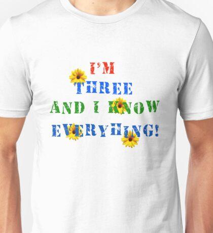 Amazing Three Year Old Unisex T-Shirt