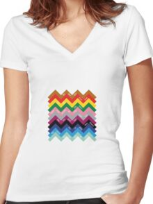 London Underground Women's Fitted V-Neck T-Shirt