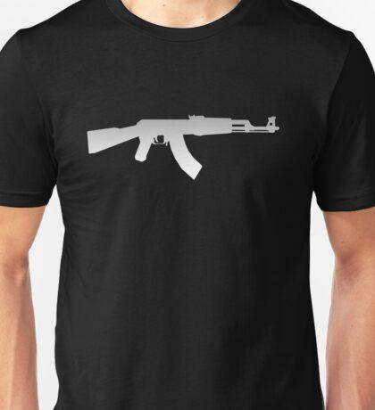 AK-47 WHITE LOGO Unisex T-Shirt
