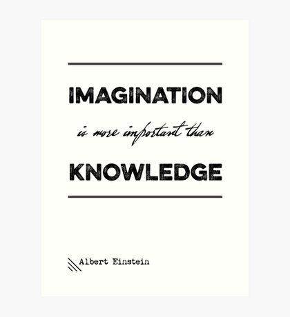 """Albert Einstein """"Imagination"""" Quote Typography Art Print"""