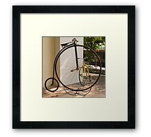 Penny Farthing - Old and New Framed Print
