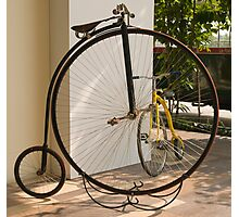 Penny Farthing - Old and New Photographic Print