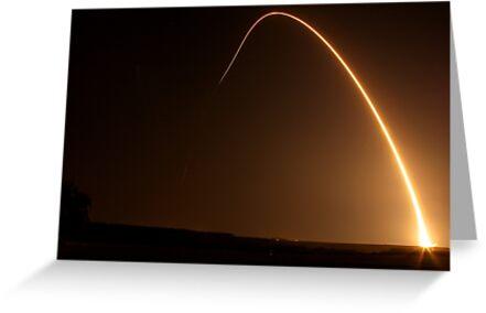 Delta II Rocket w/NPP Satellite by Cathy L. Gregg