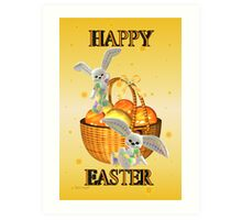 Happy Easter .. bunny style Art Print