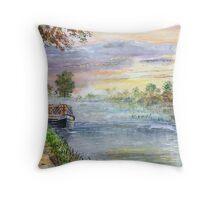 Oxford canal dawn. Throw Pillow