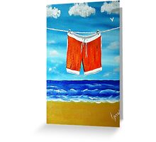 His Jams Drying Greeting Card