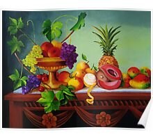 A Gathering of Fruits Poster