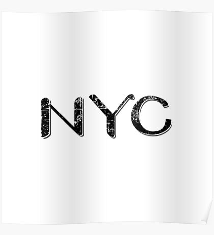 New York City Grunge Text Poster