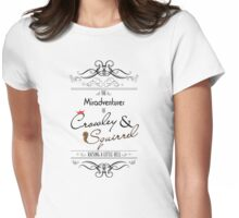 The Misadventures of Crowley & Squirrel  Womens Fitted T-Shirt