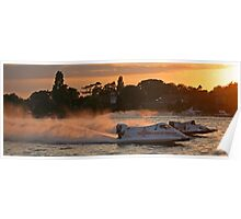 Power Boats on Oulton Broad Poster