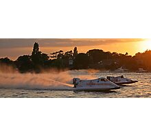 Power Boats on Oulton Broad Photographic Print