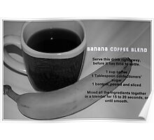 Banana Coffee Blend Recipe Card Poster