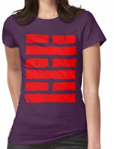 Arashikage Distressed Red Womens Fitted T-Shirt