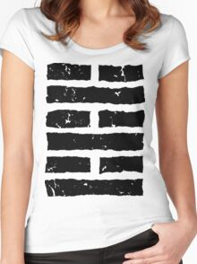 Arashikage Distressed Black Women's Fitted Scoop T-Shirt