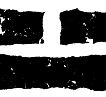 Arashikage Distressed Black Sticker
