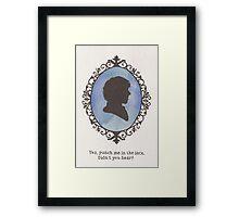 Sherlock Holmes Cameo Framed Print