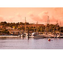 Boats on the River Dart Photographic Print