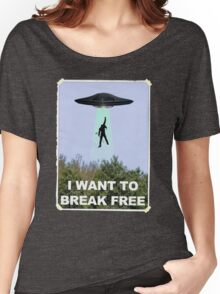 Freddie Goes Home - Queen/X-Files Mashup Women's Relaxed Fit T-Shirt