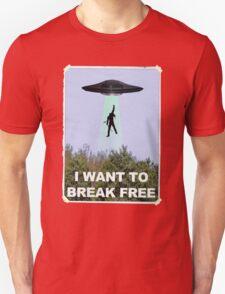 Freddie Goes Home - Queen/X-Files Mashup T-Shirt