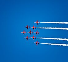 The Red Arrows at Dartmouth Regatta by Kerry Dunstone