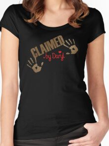 Claimed by Daryl Women's Fitted Scoop T-Shirt