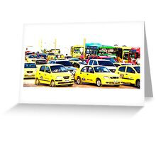 TAXI!! Greeting Card