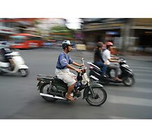 Life rolls by in Ho Chi Minh Photographic Print