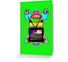 Somebody Bought a New TV! Greeting Card