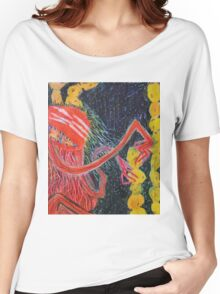 Unsatiated - A Red Lady With A Stack Of Cookies Women's Relaxed Fit T-Shirt
