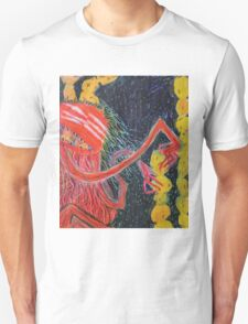 Unsatiated - A Red Lady With A Stack Of Cookies T-Shirt