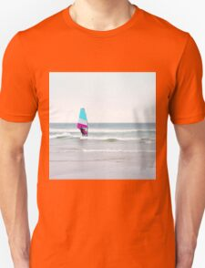 Windsurfer with Aqua and Magenta Unisex T-Shirt
