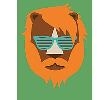 Cute Lion Hipster Animal With Funky Glasses Photographic Print